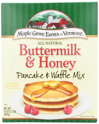 Maple Grove Farms Pancake Mix Buttermilk & Honey, 24-Ounce (Pack of 6)