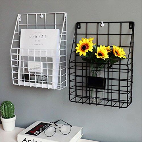 schöner Zeitschriftensammler aus Eisen Bücherregal als schickes Badzubehör – auch für Bücher, Tablets und Co. geeignet – Schwarz