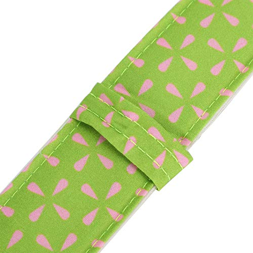 Uxsiya Tiras de pastel Herramientas de decoración de pasteles para hornear incluso tiras para pizza para magdalena (rosa verde 78043C)