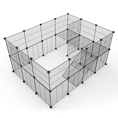 Tespo Pet Playpen, Small Animal Cage Indoor Portable Metal Wire...