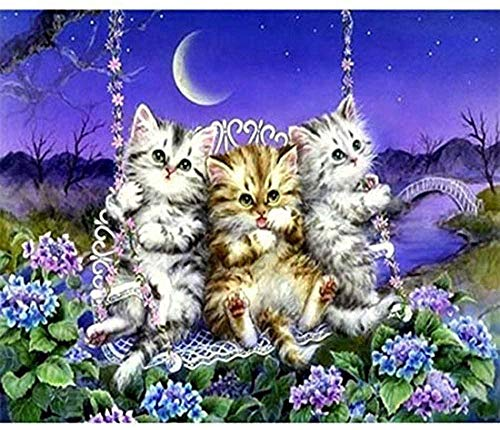 Houten puzzel 1000 stukjes stukjes for Volwassen kinderen educatief Stress Reliever -Cat schommel-Modern Home Decor Art Uniek Cadeau 50X75CM