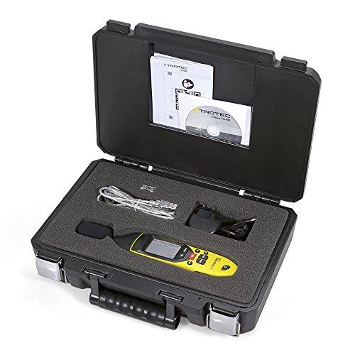 TROTEC 3510005020 SL400 Schallpegel Messgerät mit Datenlogger-Funktion (bis zu 32.700 Messwerte) mit USB-Anschluss und 3,5 mm Klinkenbuchse / Inkl. Kalibrierzertifikat, Mini-Stativ und Transportkoffer - 5