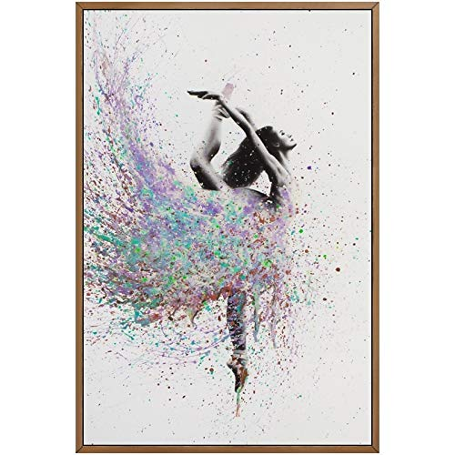 Aquarelle ballet, dans, affiche druk, afbeelding voor de slaapkamer, muur, kunst, graffiti, decoratie, canvas, modern schilderij 60x80cm No Frame Kleur foto