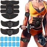 M MITLINK Muscle Toner Abdominal Toning Belt EMS ABS Toner Body Muscle Trainer Wireless Portable Unisex Fitness Training Gear for Abdomen/Arm/Leg Training Home Office Exercise