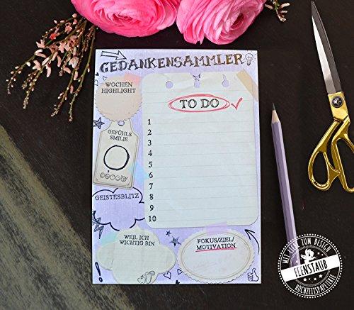 To-Do Block A5, Notizblock 50 Blatt zum Abreißen, Kalender, Wochenplan, Motivation, Ziel, Fokus