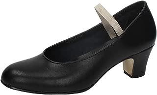 ZAPATOP 251536 Zapato Flamenco Piel Niña Zapatos Tacón Negro 36