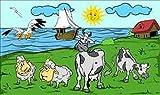 Fanshop Lünen Fahne - Flagge - Kühe - Kuh - Schafe - Meer - Küste - Sonne - Möwen - 90x150 cm - Hissfahne mit Ösen -