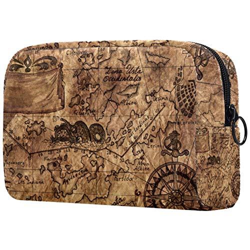 Neceser de viaje de nailon, bolsa de afeitado, organizador de artículos de tocador, diseño retro...