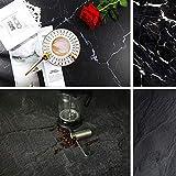 Toile de fond double face effet marbre noir texture béton pour photographie alimentaire papier sans couture accessoires de studio photo