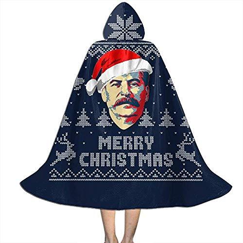 Not Applicable Kap Mit Kapuze,Hexenzauberer Umhang,Erwachsener Deluxe Umhang,Frohe Weihnachten Stalin Strickmuster Hexen Zauberer Umhang,Halloween Party Dekoration Outwear,Vampir Umhang