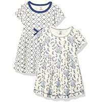 2-Pack Touched by Nature Baby Girls Organic Cotton Dresses