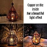 Gadgy ® Orientalische Lampe (36 cm) l Für Kerzen und elektrische Lichter l Innen und Außen Deko l Windbeständig l Marokkanisch Arabisch Orientalisch l Handgemacht - 3