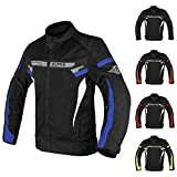 ALPHA CYCLE GEAR BREATHABLE BIKERS RIDING PROTECTION MOTORCYCLE JACKET...