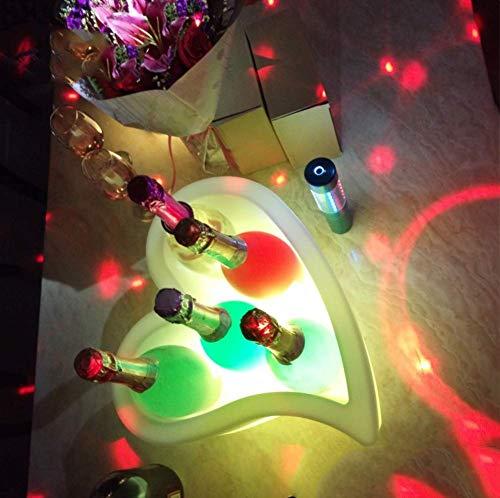 Imperméable à l'eau Led seau à glace, grande capacité refroidisseur de vin seau à bière avec 7 couleurs changeantes seau à vin pour bar de fête piscine patio, fêtes en plein air maison bricolage