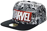 Difuzed Unisex Marvel Comics Logo and Comic Pattern Snapback Baseball Cap, Grey (Grey Grey),...