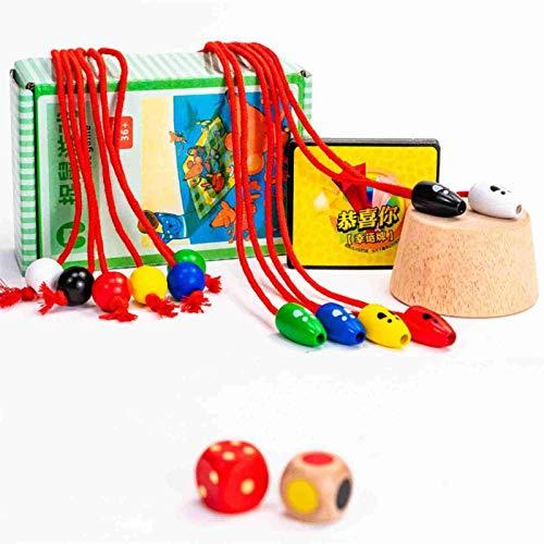 FENGLI Juego de Captura de ratón de Madera Verdes Creativas o Dare Cat Board Juego Catch Mouse Desktop Game Educational Padre-niño Interactive Toy