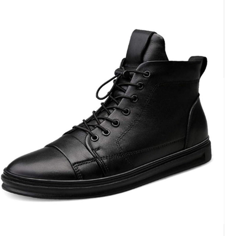 FMWLST Stiefel Herrenschuhe Hohe Qualitt Herren Ankle Stiefel Schwarze Schuhe Winterschuhe Warme Schuhe