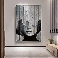 ポスター画像40x60cmフレームなしHD北欧スタイルのセックスレディ赤い唇アート壁の写真リビングルームHDモダンな家の装飾ポスターとプリント