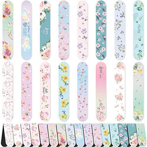 48 Stück Blumen Magnetische Lesezeichen Niedliche Magnet Seitenmarkierungen Magnetische Seitenclips für Kinder Erwachsene, die Schreibwaren Lesen, 16 farbenfrohes Design