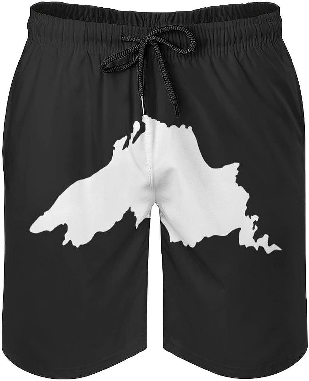 Superior Lake Men's Summer Quick Dry Swim Trunks Casual Board Shorts Beachwear for Boys Men