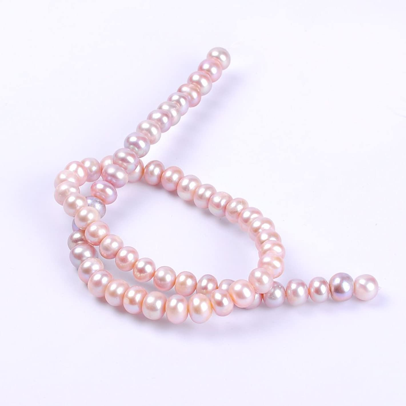 Ruilong AAAA Screw Thread Abacus Natural Freshwater Pearl Loose Beads For Jewelry Making (8-9MM Pink) ehbwbi966545623