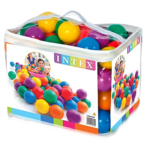 Intex 3-1/8' Fun Ballz - 100 Multi-Colored Plastic Balls, for Ages 2+