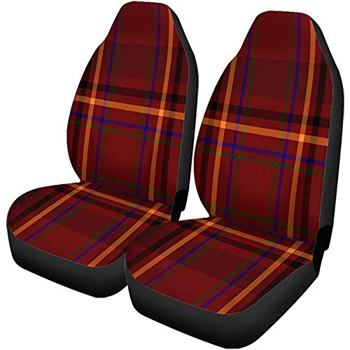Enoqunt Clan Culture Universele autostoelhoezen, zwart, rood, scottish, tartan plaid, Brits geruit, clan culture