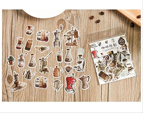 JIANGGUOMIN 40 stks/pak Koffie Thee Plant Decoratieve Stickers Scrapbooking Stick Label Dagboek Bullet Journal Stickers briefpapier Album Stickers A