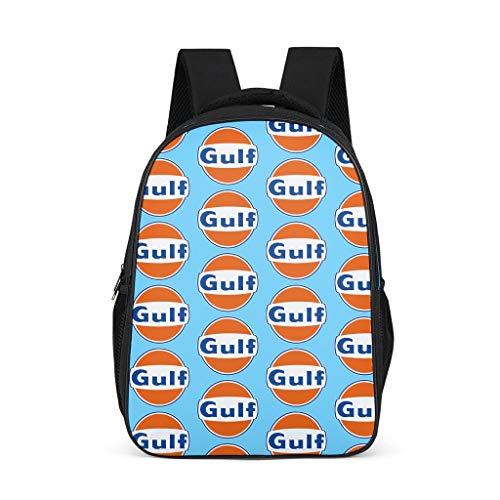 Rucksack Gulf Racing Retro Einzigartige Big College Taschen – Gulf Geeignet für Jungen & Mädchen für Outdoor Hellgrau 7 Einheitsgröße