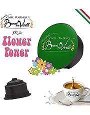 Italian Coffee Bocca Della Verità - 100 capsules - compatible Dolce Gusto (MIX FLOWER POWER Dolce Gusto)