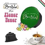 BOCCA DELLA VERITA Café Italiano - Paquete de 50 Cápsulas - Sabor MIX FLOWER POWER, Compatible con Cafetera Dolce Gusto, 100% Made in Italy