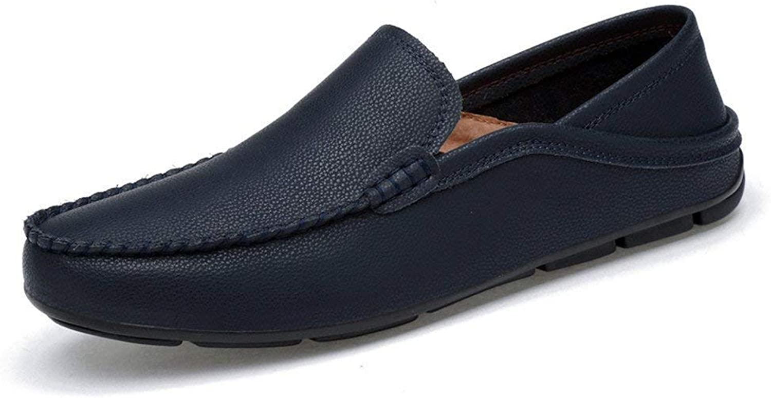 Mens Moccasins shoes, Mens Drive Loafers for Casual and Refreshing Breathable Genuine Leather Lined Lightweight Boot Moccasins (color  bluee, Size  47 EU) ( color   As shown , Size   One size )