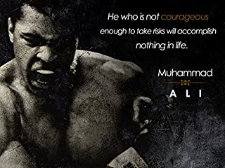 777 Tri-Seven Entertainment Muhammad Ali Poster Be Courageous Quote Art Print, 18