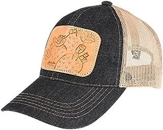 NRS Womens Ladies Tooled Leather Cactus Cap OS Multi