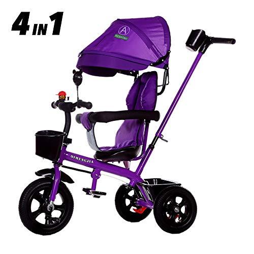 SSLC kinderen driewieler vanaf 2 jaar kinderdriewieler fiets fiets baby peuters inklapbaar oudersbesturing zonnedak fluisterstil vanaf 6 maanden tot 5 jaar voor jongens en meisjes