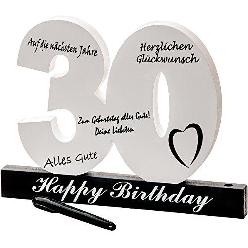 MC-Trend 30. Geburtstag individuelles Gästebuch Geburtstagszahl zum Beschriften, alle Gäste verewigen Sich auf der Party (30.)