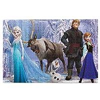 アナと雪の女王frozen (33) 1000ピース ジグソーパズル マイクロピース 絵画 書架-木製パズル 大人 向け(6歳以上が適しています)(50.3x75.5cm)