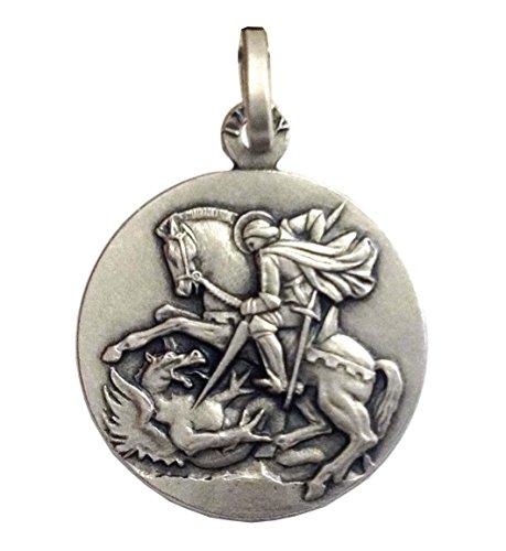 Medaglietta' San Giorgio' In Argento Massiccio 925-925 Sterling Silver Saint George Medal