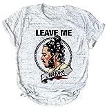 Anbech Womens Leave Me Mlone Racerback Tank Gym Tank Summer Sleeveless Shirt Light Gray