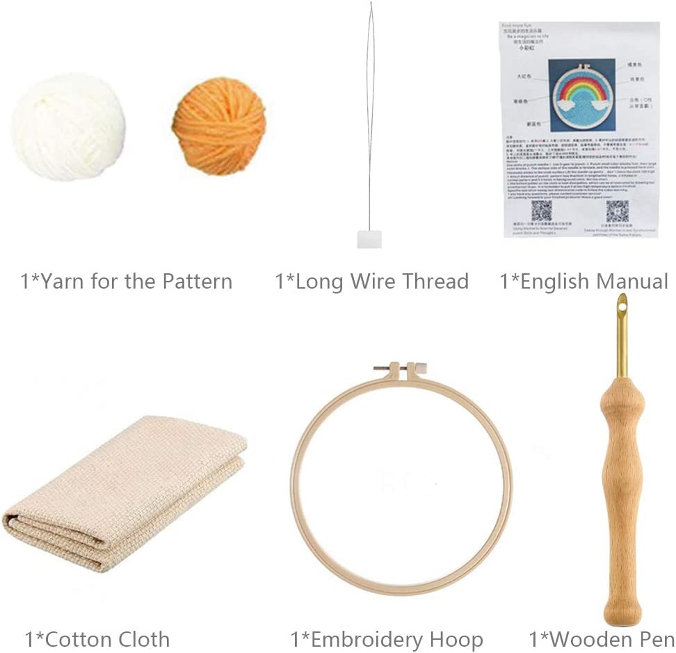 Cotton Fabric Cloth Wooden Threader Pen Punch Needle Embroidery ...