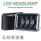 2pcs 4x6 Inch LED Headlights DOT Approved 73W Rectangular Replacement H4651 H4652 H4656 H4666 H6545 Compatible with Peterbilt Kenworth Freightinger Ford Probe Chevrolet Oldsmobile CO LIGHT