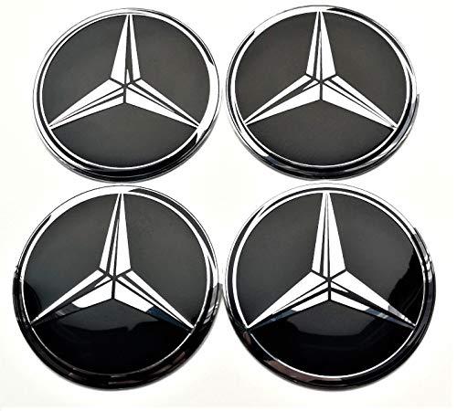 4 Rad mitte kappen aufkleber 65 mm selbstklebendes gewölbt MercedesBenz logo Embleme nabendeckel felgenkappen