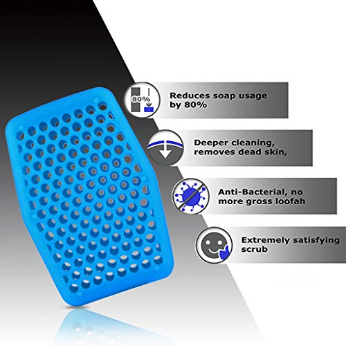 Silicone Soap Sleeve Intelligently Designed Shower Clean Brush Bathroom Products Home & Garden