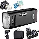 Godox AD200Pro AD200 Pro 2.4G TTL Bolsillo Flash 200W HSS 1/8000s con 14.4V/2900mAh Litio Batería para Nikon Sony Fujifilm Olympus Panasonic Pentax Canon EOS Cámaras (AD200Pro)