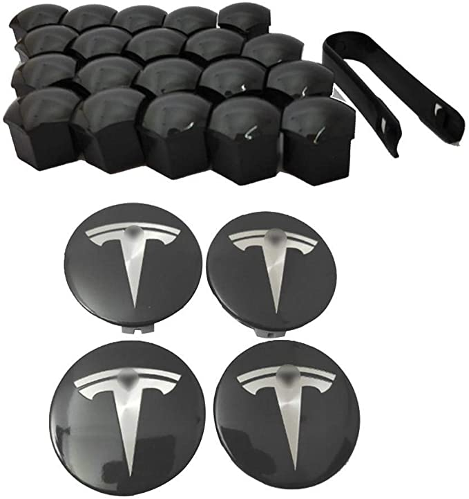 Aerries Radnabenkappen Nabendeckel Tesla Model 3 S X Aero Radkappensatz Auto