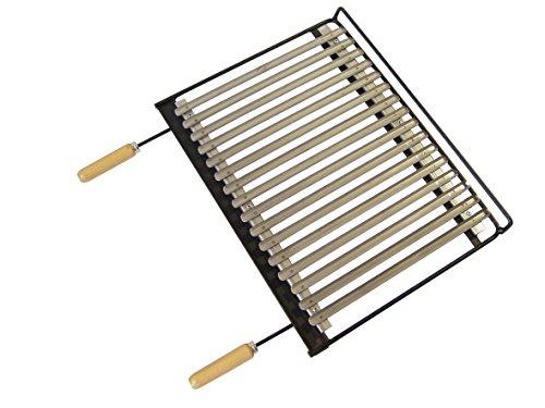 IMEX EL ZORRO 71663 – Grille en INOX pour Barbecue, 58 x 40 cm, Couleur Noir