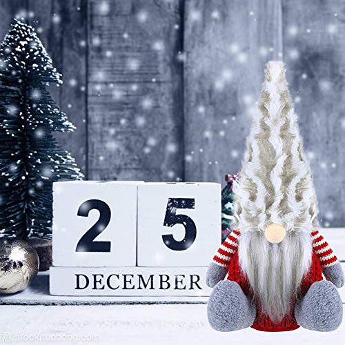 PINPOXE Gnomo di Natale, Babbo Natale, Bambola di Natale, Mini Gnomo Bambole di Babbo Natale Fatte a...