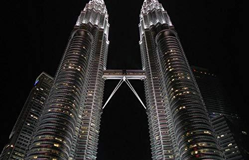 SJYYR Kuala Lumpur Torres Petronas Vista Nocturna 3D 1500 Piezas Adulto Rompecabezas De Madera Rompecabezas para Niños Juguetes Educativos Regalo DIY Desmontable
