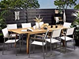 Stilvoller Gartentisch Akazienholz Hellbraun Cesana