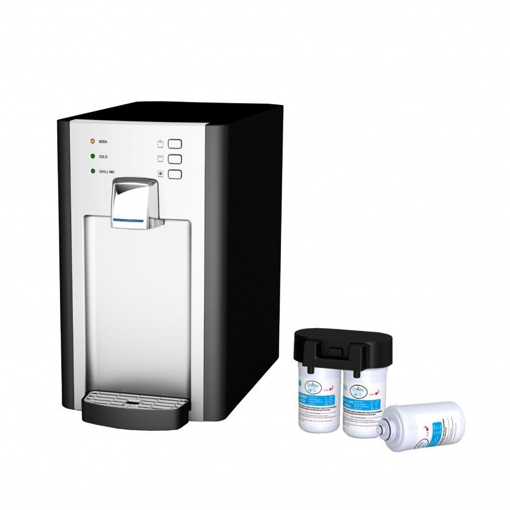 SPRUDELUX Blue Diamond - Sistema de agua potable, filtro y reductor de presión sin botella de CO2 Aireador de agua profesional para el hogar. Agua mineral y agua con burbujas.: Amazon.es